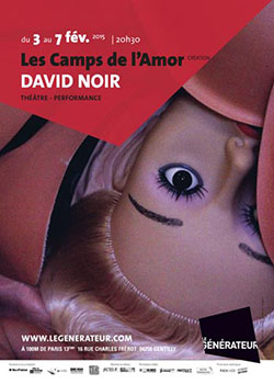 """""""Les Camps de l'Amor"""" de David Noir au Générateur - Affiche Birgit Brendgen"""