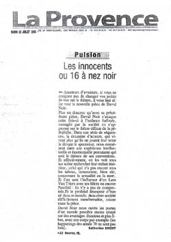 La Provence - Les Innocents de David Noir