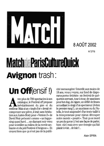 Paris-Match - Les Justes-Story de David Noir